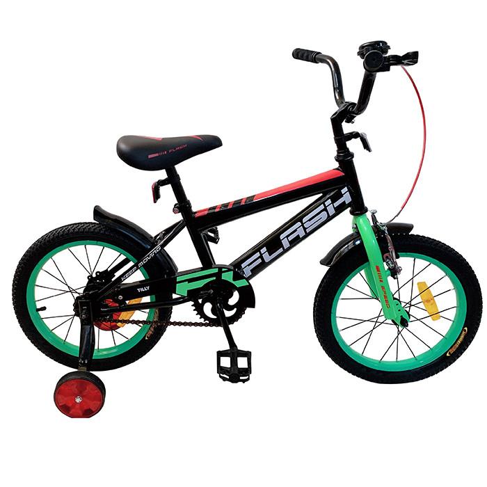 Велосипед детский Flash 16 T-21647 Green Гарантия качества Быстрая доставка