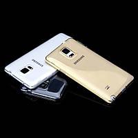 Силиконовый чехол на Samsung Galaxy Note Edge N915f прозрачный ультратонкий