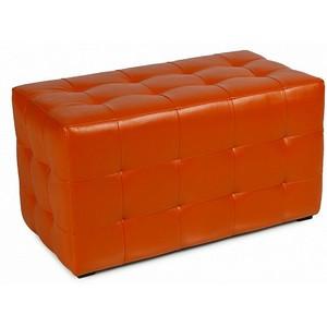 Пуф ПФ-11 Оранжевый,пуфик,пуфики,пуф кожзам,пуф экокожа,банкетка,банкетки,пуф куб,пуф фото