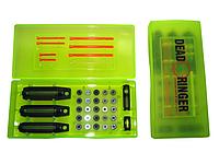 Набор мушек (5 шт.) Dead Ringer Pro-Pack. 10 цветных вставок. Кейс для хранения (DR4409)