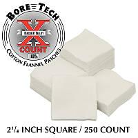Патчи для чистки оружия Bore Tech 2 1/4 дюйма .38-.45 калибра 250 шт/уп (BTPT-214-S250)