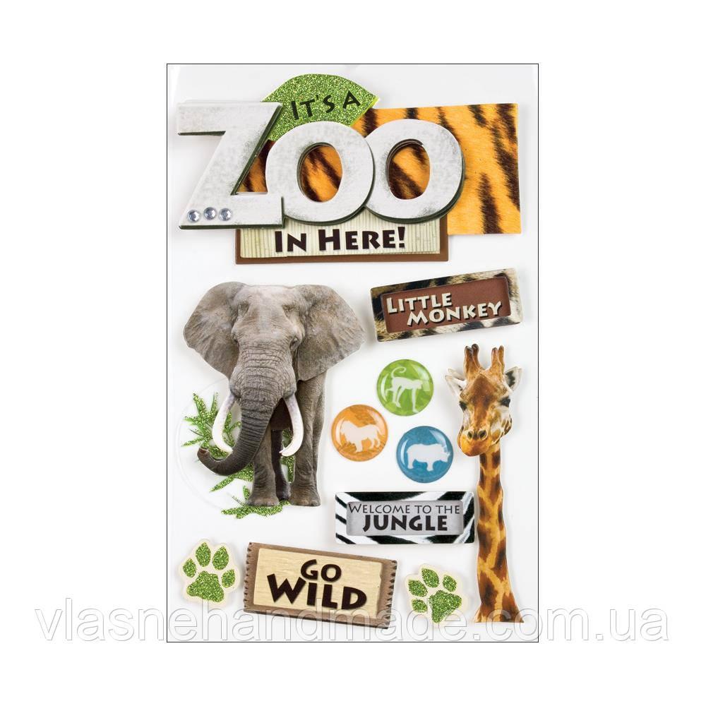 Наклейки 3D - Zoo - Paper House