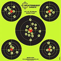 Мишень для стрельбы флюрисцентная Splatterburst 30х30 см (12x12 дюймов) Бычьи глаза, фото 1