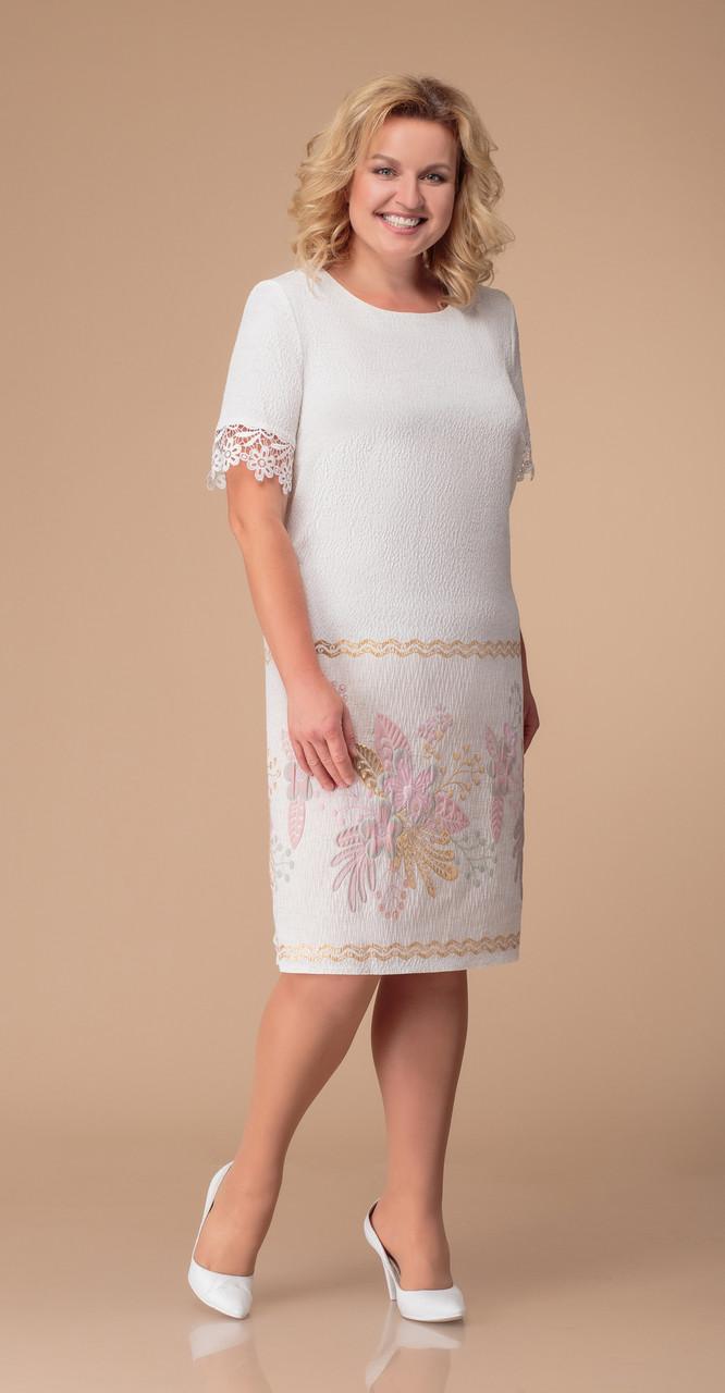 Сукня Svetlana Style-1269 білоруський трикотаж, білий, 52