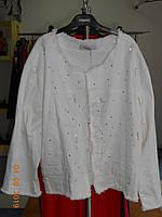 Белая джинсовая стильная  куртка до 66 размера Selly, фото 1