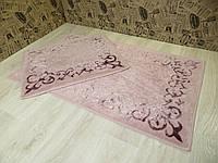 Набор ковриков для ванной и туалета 60Х100. Хлопок. (Турция)
