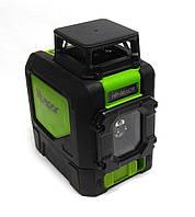 Лазерный уровень Huepar 901CR 360°. Работает на расстоянии до 50м, в комплект входит чехол, 4 батарейки типа А