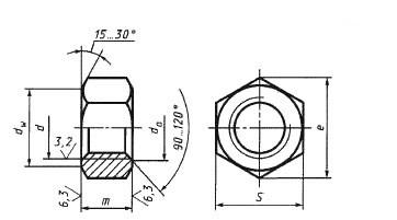 Купить гайку метрическую шестигранную ГОСТ 5927-70 в Украине