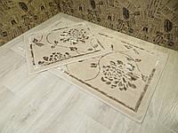 Набор ковриков для ванной и туалета 60Х100. Хлопок. (Турция), фото 1