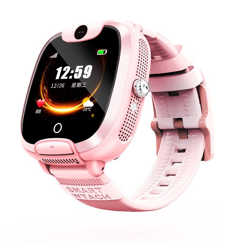 """Дитячий розумний годинник SUNROZ DF08 смарт-годинник 1.44"""" LBS Рожевий (SUN5455)"""
