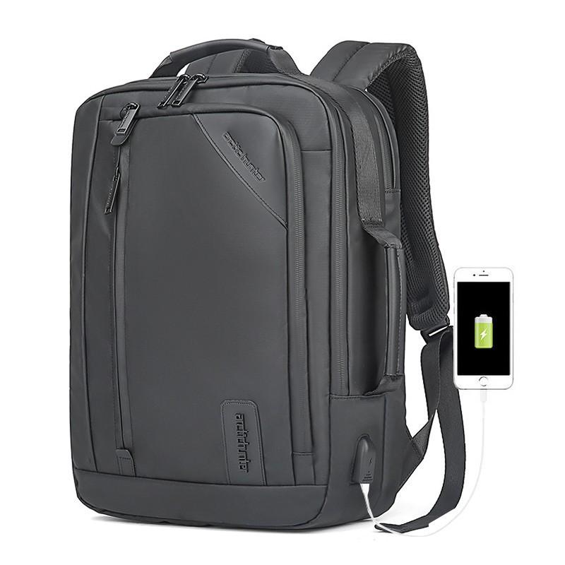 Компактный городской портфель-сумка-рюкзак-брифкейс 4в1 Arctic Hunter B00326 с USB портом, 20л