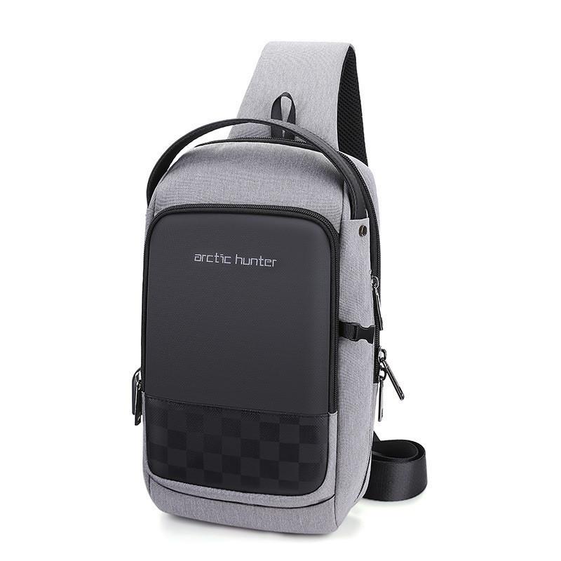 Однолямочный городской рюкзак-барсетка Arctic Hunter XB00105, с USB портом, влагозащищённый, 5л