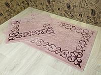 Набор ковриков для ванной и туалета 60Х100. 2 предмета. Хлопок. (Турция)