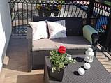 Набор садовой мебели Corfu Box Set Brown ( коричневый ) из искусственного ротанга ( Allibert by Keter ), фото 3