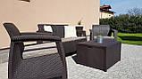 Набор садовой мебели Corfu Box Set Brown ( коричневый ) из искусственного ротанга ( Allibert by Keter ), фото 10