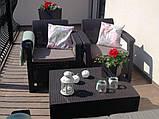 Набор садовой мебели Corfu Box Set Brown ( коричневый ) из искусственного ротанга ( Allibert by Keter ), фото 9
