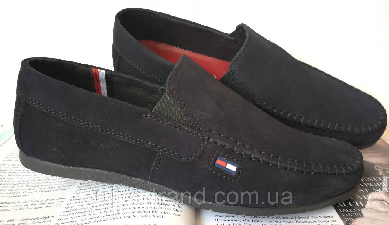 Style! Tommy Hilfiger! Мужские синие замшевые туфли