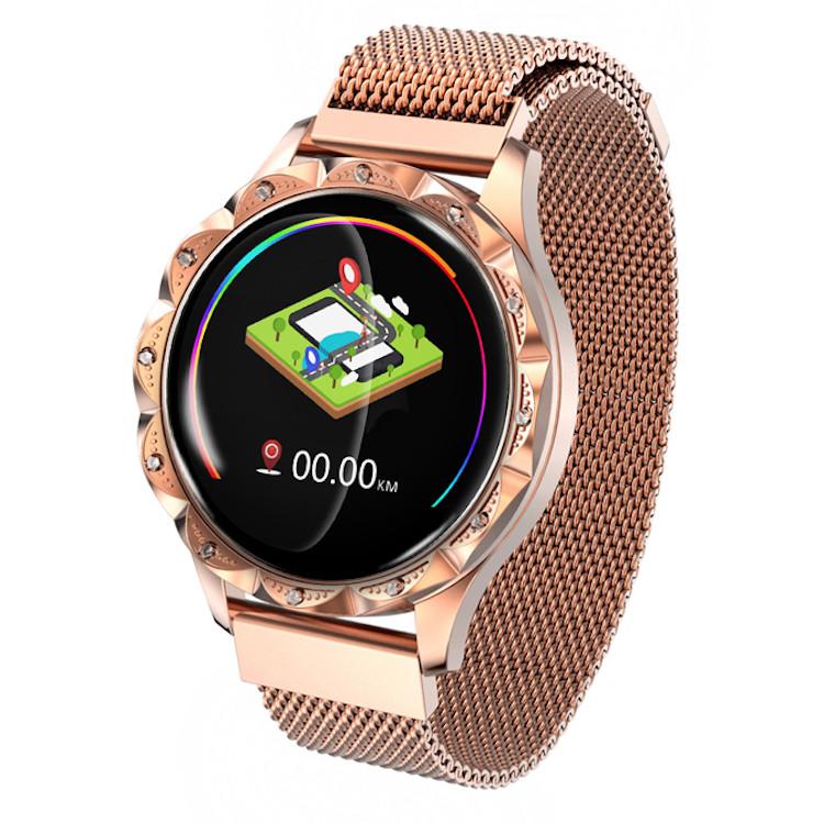 """Жіночий Смарт-браслет SUNROZ D18 смарт-годинник 1.04"""" IP67 Золотистий (SUN5458)"""
