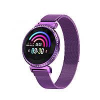 """Женский Смарт-браслет SUNROZ MC11 смарт-часы 1.04 """"IP67 Фиолетовый (SUN5460), фото 1"""