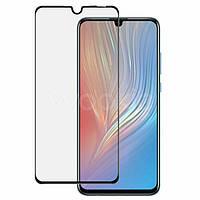 Защитное стекло для Huawei Y6 2019 (MRD-LX1F) Хуавей клеится по всей поверхности черное Full Glue