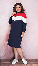 Демисезонное спортивное платье миди с длинным рукавом черное, фото 2