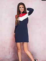 Демисезонное спортивное платье миди с длинным рукавом черное, фото 3