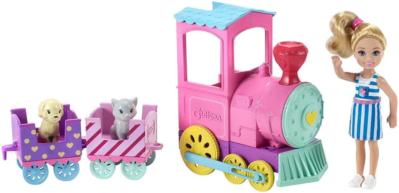 Barbie Барби клуб Челси и поезд чух-чух Club Chelsea Doll And Choo-choo Train Playset