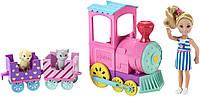 Barbie Барби клуб Челси и поезд чух-чух Club Chelsea Doll And Choo-choo Train Playset, фото 1