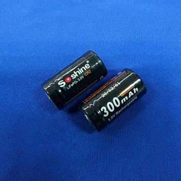 Аккумулятор Soshine CR2P-3.2-300 3,2V 300mAh Li-Fe ( с электроникой )