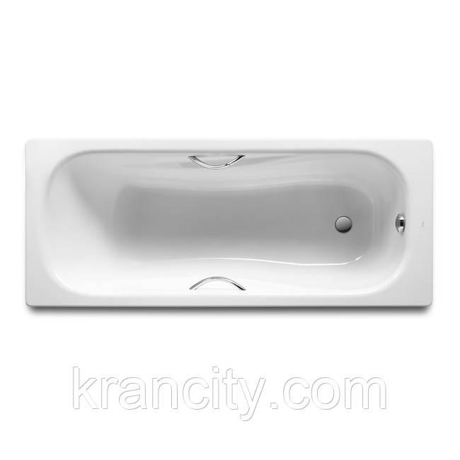 Стальная ванна ROCA  Princess 170х75 Roca (A220270001),прямоугольная, с ручками, без ножек