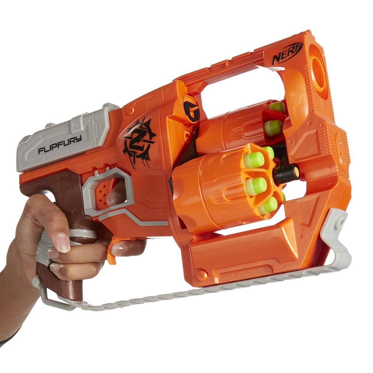 Детское оружие бластер Нерф Зомби Страйк Переворот Nerf Zombie Strike FlipFury Blaster A9603