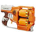 Детское оружие бластер Нерф Зомби Страйк Переворот Nerf Zombie Strike FlipFury Blaster A9603, фото 2
