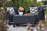 Набор садовой мебели Corfu Weekend Set Graphite ( графит ) из искусственного ротанга ( Allibert by Keter ), фото 10