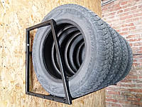 Полка для хранения сменных колес настенная, Сварная раздвижная, глуб 60 см