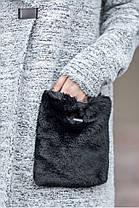 Молодёжный  кардиган из букле с накладными карманами из меха с 42 по 48 размер, фото 2