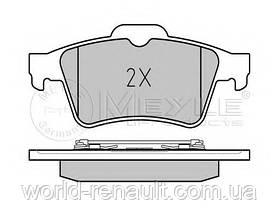 Комплект задних тормозных колодок Рено Лагуна II / MEYLE 025 234 8216