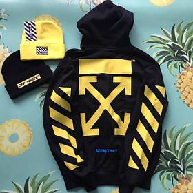 Худи Off White Yellow Original • Топ качество • Хайповый бренд • Ориг бирки