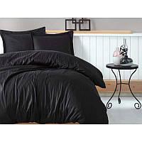 Постельное белье Сатин Страйп-сатин BLACK ТМ Царский дом  (Евро макси)