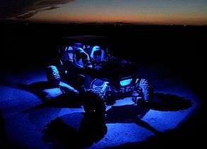 "Прожектор Shark Led Light,3""x2"",3W,Multi-Color,Bluetooth Control,4 pcs Set"