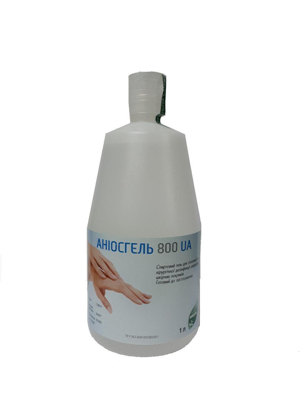 Средство для дезинфекции рук Аниосгель 85 НПК UA флакон аерлесс 1 л (без дозатора)