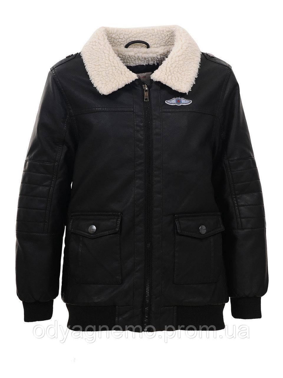 Куртка кожзам на меху для мальчиков Glo-Story , 92-122/128 рр.