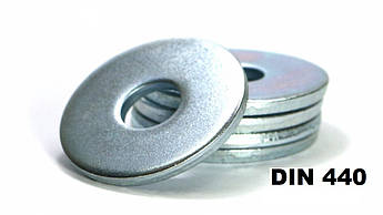 DIN 440 Шайба для дерев'яних конструкцій збільшена Оцинкована (Розміри в ОПИСІ)