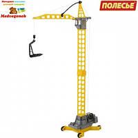 "Игрушка Polesie башенный кран ""Агат"" на колёсиках большой (57167)"