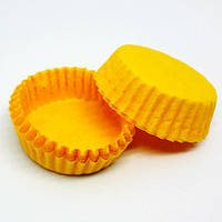 Тарталетка бумажная для конфет Желтая 3а, d=30мм. h=9мм (упаковка 100шт)