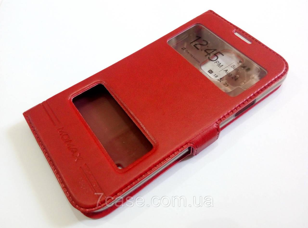 Чохол книжка з віконцями momax для Samsung Galaxy S5 g900 червоний
