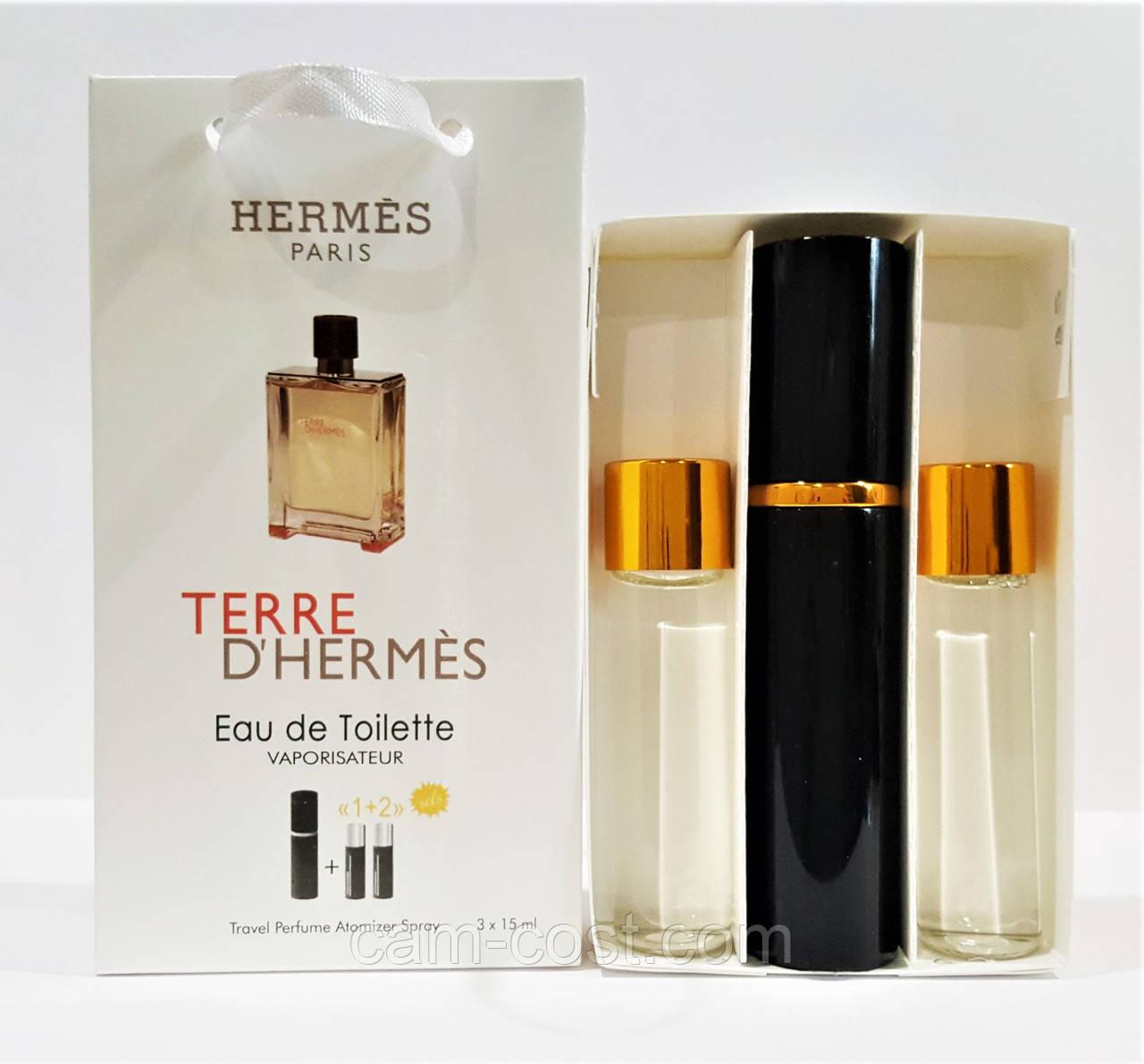 Подарунковий набір 3в1 з феромонами Hermes Terre d'hermes
