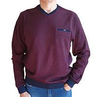Модный бордовый свитер Caporicco (Турция) с вырезом мыс