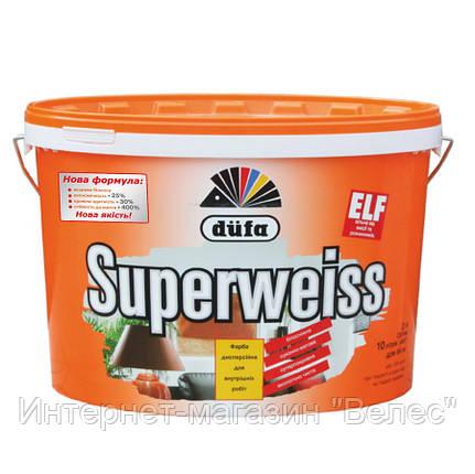 Суперстойкая виниловая краска Dufa Superweiss (Дюфа Супервайс) D4 10л, фото 2