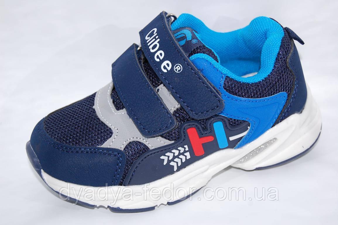 Детские кроссовки повседневные Clibee Польша F771 Для мальчиков Синий размеры 26_31