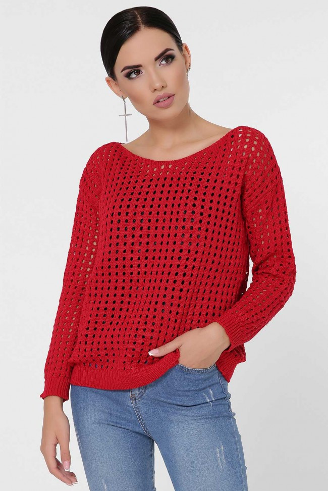 """Красный женский свитер """"DAILY"""""""
